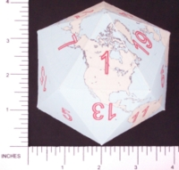 Dice : PAPER D20 3 ICOEARTH 05
