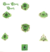 Dice : STONE MULTI CRYSTAL CASTE QUARTZ GREEN CHERRY