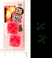 Dice : DUPS03 NOVELTY INC 01 LOVE DICE GLOW