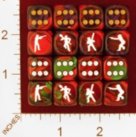 Dice : MINT25 CHESSEX CUSTOM FOR EBAY RACERSKA MEN WITH WEAPONS 01