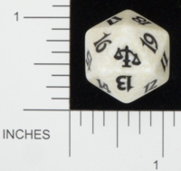 Dice : D20 OPAQUE ROUNDED SPECKLED MTG LIFE COUNTERS JUDGEMENT 03