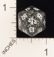 Dice : D20 OPAQUE ROUNDED SPECKLED MTG LIFE COUNTERS JUDGEMENT 05