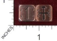 Dice : MINT36 PROJECT KHOPESH TINKER DICE NUMBERED FUDGE COPPER
