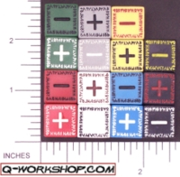 Dice : NON NUMBERED OPAQUE ROUNDED SOLID Q WORKSHOP RUNIC II FUDGE 01