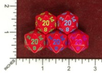 Dice : MINT50 CHESSEX D20 RED RECOLOR