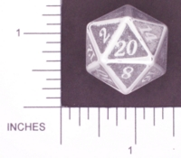 Dice : METAL ALUMINUM D20 01 CAVE BADGER 01