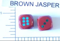 Dice : STONE D6 BROWN JASPER