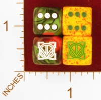 Dice : MINT25 CHESSEX CUSTOM FOR EBAY RACERSKA ADINKRA NEA OPE SE OBEDI HENE HE WHO WANTS TO BE KING 01