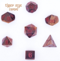 Dice : STONE MULTI CRYSTAL CASTE TIGER EYE 02