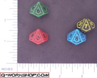 Dice : D10 OPAQUE ROUNDED SOLID Q WORKSHOP RUNIC II 03