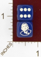 Dice : MINT23 CHESSEX CUSTOM PRESIDENT OBAMA 01