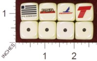 Dice : MINT35 HOMEMADE US AIRWAYS 02 PSA PIEDMONT TRUMP SHUTTLE