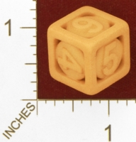 Dice : MINT27 SHAPEWAYS BARKS CAGE DICE D6 ARIAL FONT 01