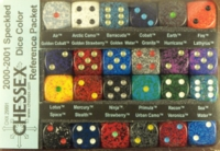 Dice : MINT24 CHESSEX 2000 2001 COLOR REFERENCE PACK