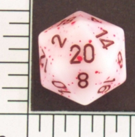 Dice : D20 OPAQUE ROUNDED SPECKLED WITH BROWN 1