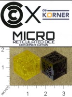 Dice : MINT38 DEKORNER MICRO RETICULATED DICE DEKORNER EDITION