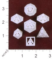 Dice : MINT35 SHAPEWAYS GYTHAWEN DEATHLY HALLOWS DICE