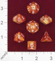 Dice : MINT24 CHESSEX LUSTEROUS BRONZE WITH WHITE 01