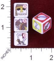 Dice : MINT30 PRINT AND PLAY PRODUCTIONS CHUNKY FIGHTERS SKELETON 01