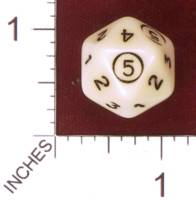 Dice : D20 OPAQUE ROUNDED SOLID D5 01