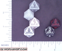 Dice : D8 OPAQUE ROUNDED SOLID Q WORKSHOP CELTIC II 01