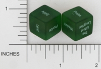 Dice : NON NUMBERED TRANSLUCENT ROUNDED SOLID DESTINY DICE RANDOM ACT OF KINDNESS 02