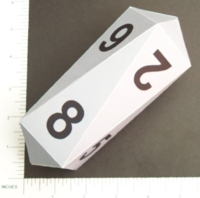 Dice : PAPER D08 CRYSTAL CASTE