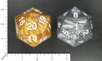 Dice : MINT57 METALLIC DICE GAMES D20 JUMBO