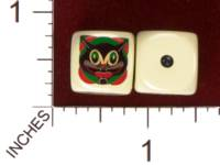 Dice : MINT29 YAK YAKS ART DECO HALLOWEEN CAT 01