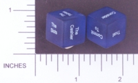 Dice : NON NUMBERED TRANSLUCENT ROUNDED SOLID DESTINY DICE CASINO 01