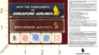 Dice : MINT20 SINGAPORE AIRLINES 01