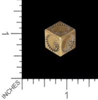 Dice : MINT56 TRAYSER METAL WORKS BRONZE D6 PLANETARY