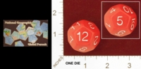 Dice : D12 OPAQUE ROUNDED SOLID NATIONAL GEOGRAPHIC SOCIETY GLOBAL PURSUIT 01