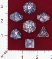 Dice : MINT24 CHESSEX LUSTEROUS SLATE WITH WHITE 01
