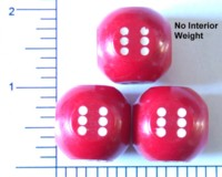 Dice : LG PLASTIC 2 OPAQUE ROUNDED SOLID SPHERICALISH RED
