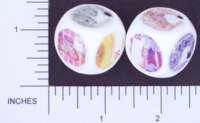 Dice : NON NUMBERED OPAQUE ROUNDED SOLID WHITE CURRENCY NETHERLANDS 01