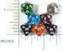 Dice : GLASS D20 CC HONOR DICE