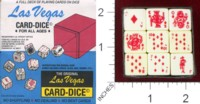 Dice : MINT38 CRISLOID LAS VEGAS CARD DICE