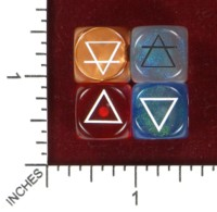 Dice : MINT45 CHESSEX CUSTOM FOR RYAN PECK ALCHEMICAL ELEMENT SYMBOLS