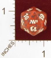 Dice : D20 OPAQUE ROUNDED SPECKLED MTG LIFE COUNTERS M11 01