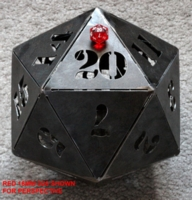 Dice : LOOSE EBAY MR GOBLEGBLIX LARGE METAL D20 01