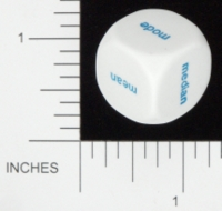 Dice : NON NUMBERED OPAQUE ROUNDED SOLID KOPLOW CENTRAL TENDENCY WORDS 01