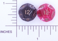 Dice : D12 OPAQUE ROUNDED SWIRL CRYSTAL CASTE UNKNOWN 01