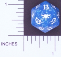 Dice : D20 OPAQUE ROUNDED SPECKLED MTG LIFE COUNTERS LEGIONS 01
