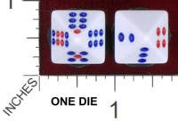 Dice : D8 OPAQUE ROUNDED SOLID UNKNOWN CHINESE