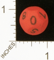 Dice : MINT25 SHAPEWAYS MAGIC D10 3 FOLD ROUND NUM 01