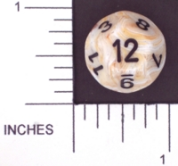 Dice : D12 OPAQUE ROUNDED SWIRL CHESSEX MENAGERIE 02