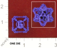 Dice : MINT25 SHAPEWAYS STOP4STUFF CHAINED DIE D6 01