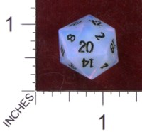 Dice : STONE D20 CRYSTAL CASTE OPAL 20MM