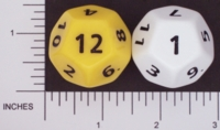 Dice : D12 OPAQUE ROUNDED SOLID FAMILY LEARNING 01